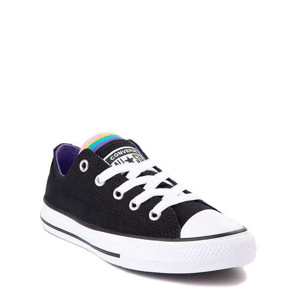alternate view Converse Chuck Taylor All Star Lo Multi Tongue Sneaker - Little Kid - Black / MultiALT1B