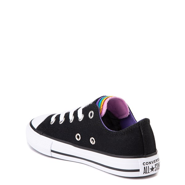 alternate view Converse Chuck Taylor All Star Lo Multi Tongue Sneaker - Little Kid - Black / MultiALT2