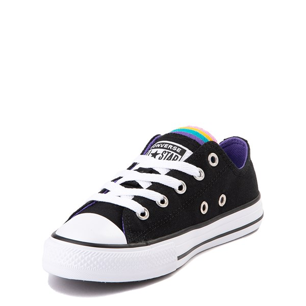 alternate view Converse Chuck Taylor All Star Lo Multi Tongue Sneaker - Little Kid - Black / MultiALT3