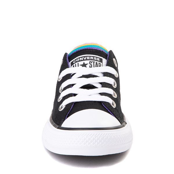 alternate view Converse Chuck Taylor All Star Lo Multi Tongue Sneaker - Little Kid - Black / MultiALT4