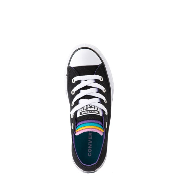 alternate view Converse Chuck Taylor All Star Lo Multi Tongue Sneaker - Little Kid - Black / MultiALT4B