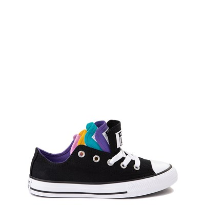 Alternate view of Converse Chuck Taylor All Star Lo Multi Tongue Sneaker - Little Kid - Black / Multi