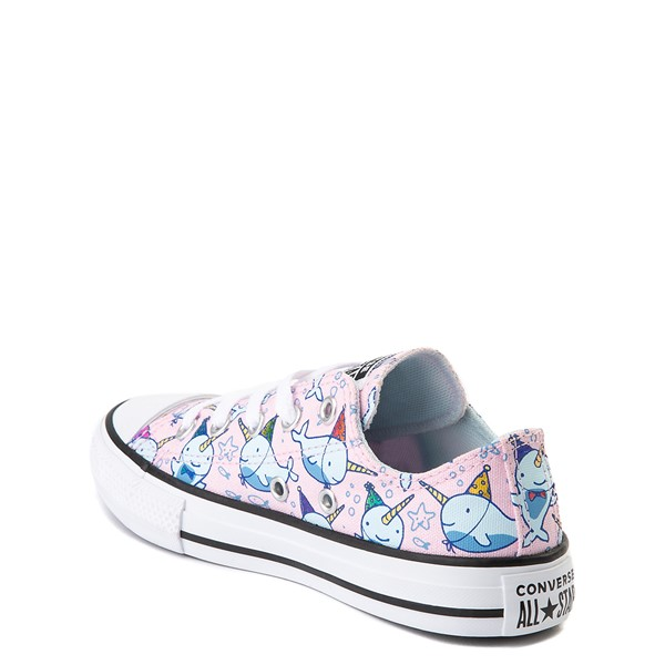 alternate view Converse Chuck Taylor All Star Lo Narwhal Sneaker - Little Kid / Big Kid - Cherry BlossomALT1