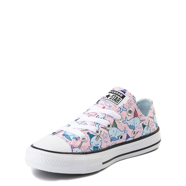 alternate view Converse Chuck Taylor All Star Lo Narwhal Sneaker - Little Kid / Big Kid - Cherry BlossomALT2