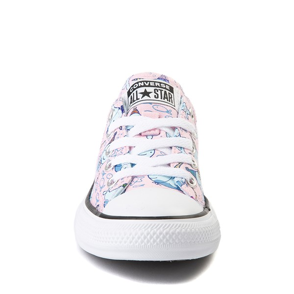 alternate view Converse Chuck Taylor All Star Lo Narwhal Sneaker - Little Kid / Big Kid - Cherry BlossomALT4