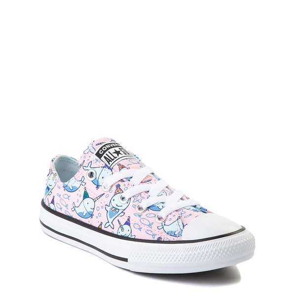alternate view Converse Chuck Taylor All Star Lo Narwhal Sneaker - Little Kid / Big Kid - Cherry BlossomALT5