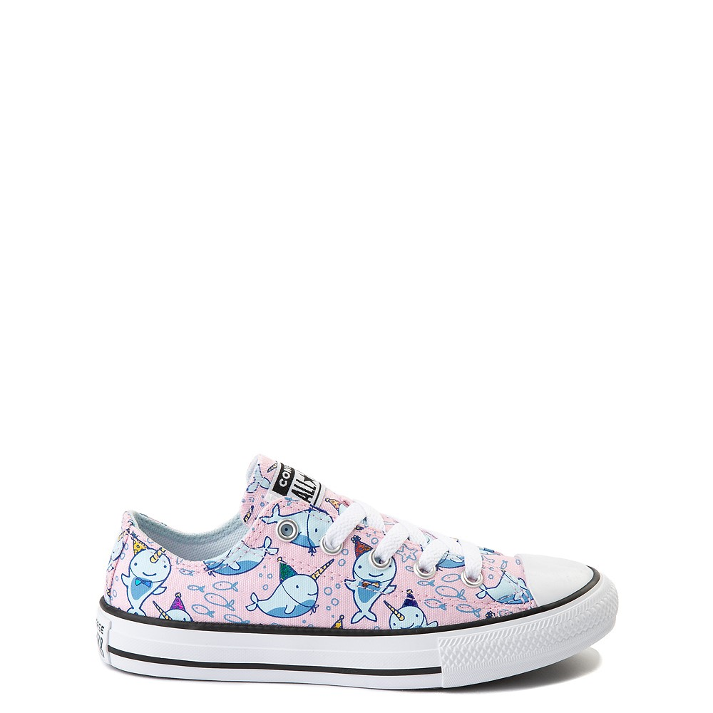Converse Chuck Taylor All Star Lo Narwhal Sneaker - Little Kid / Big Kid - Cherry Blossom