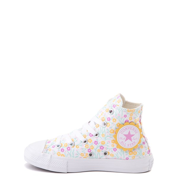 alternate view Converse Chuck Taylor All Star Hi Floral Sneaker - Little Kid / Big Kid - WhiteALT1