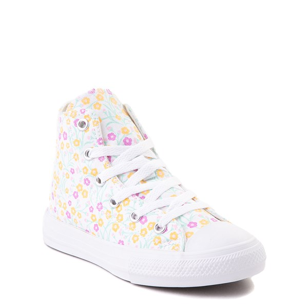 alternate view Converse Chuck Taylor All Star Hi Floral Sneaker - Little Kid / Big Kid - WhiteALT1B