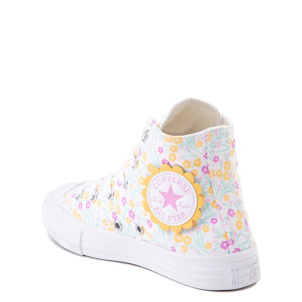 alternate view Converse Chuck Taylor All Star Hi Floral Sneaker - Little Kid / Big Kid - WhiteALT2
