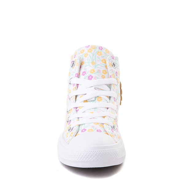 alternate view Converse Chuck Taylor All Star Hi Floral Sneaker - Little Kid / Big Kid - WhiteALT4