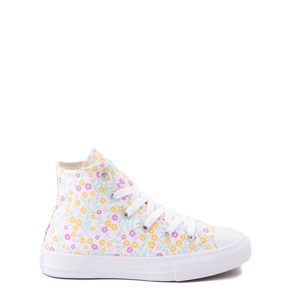Converse Chuck Taylor All Star Hi Floral Sneaker - Little Kid / Big Kid - White