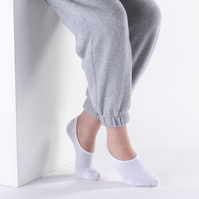 Alternate view of Womens No Show Socks 5 Pack - White