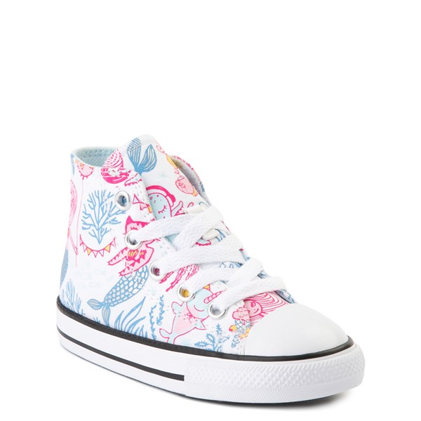 alternate view Converse Chuck Taylor All Star Hi Mermaids Sneaker - Baby / Toddler - White / MultiALT1B