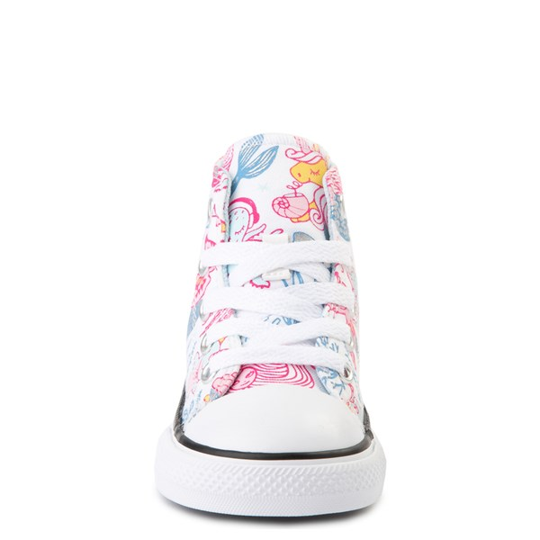 alternate view Converse Chuck Taylor All Star Hi Mermaids Sneaker - Baby / Toddler - White / MultiALT4