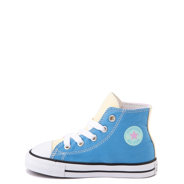 alternate view Converse Chuck Taylor All Star Hi Color-Block Sneaker - Baby / Toddler - MultiALT1