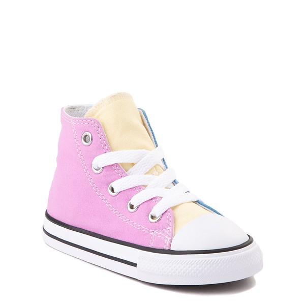 alternate view Converse Chuck Taylor All Star Hi Color-Block Sneaker - Baby / Toddler - MultiALT1B