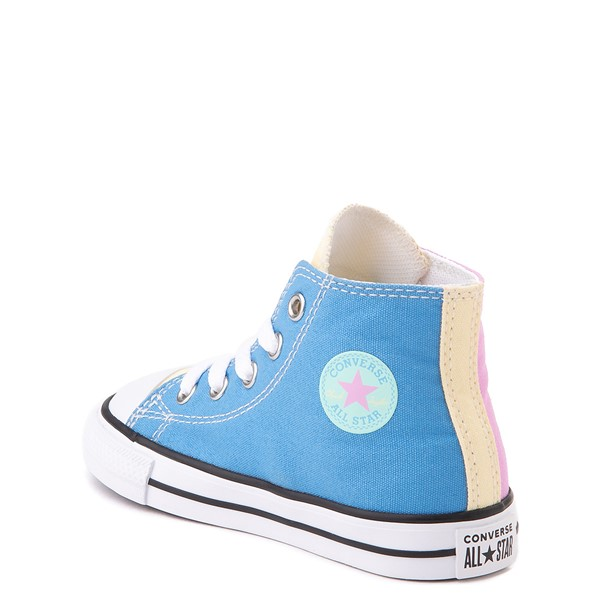 alternate view Converse Chuck Taylor All Star Hi Color-Block Sneaker - Baby / Toddler - MultiALT2