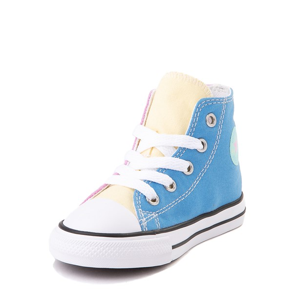 alternate view Converse Chuck Taylor All Star Hi Color-Block Sneaker - Baby / Toddler - MultiALT3