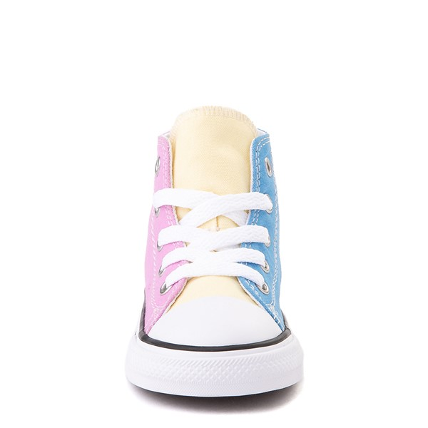alternate view Converse Chuck Taylor All Star Hi Color-Block Sneaker - Baby / Toddler - MultiALT4