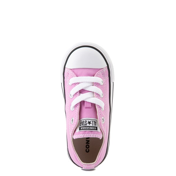 alternate view Converse Chuck Taylor All Star Lo Sneaker - Baby / Toddler - Peony PinkALT4B