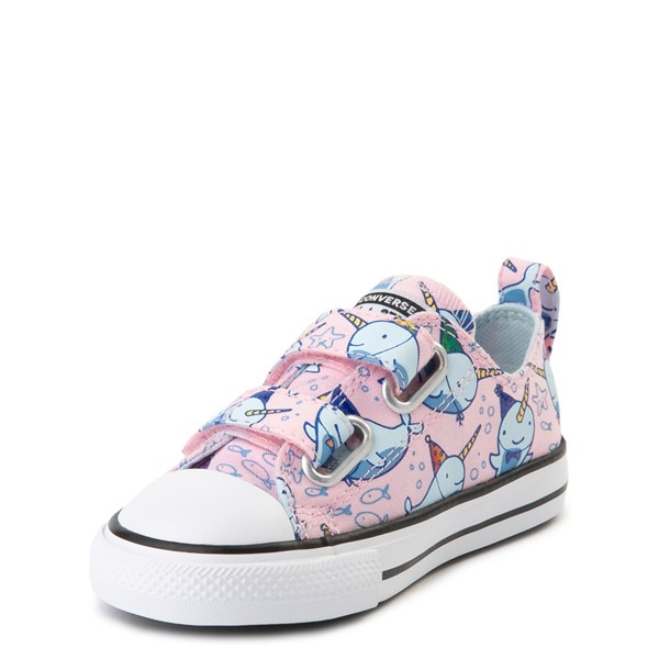 alternate view Converse Chuck Taylor All Star 2V Lo Narwhal Sneaker - Baby / Toddler - Cherry BlossomALT2
