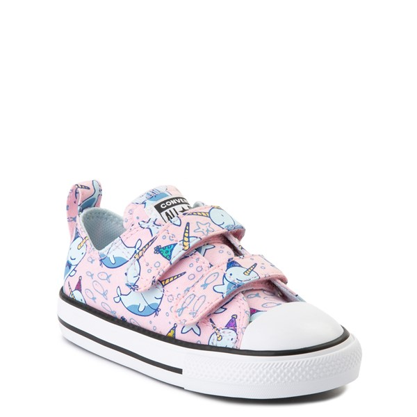 alternate view Converse Chuck Taylor All Star 2V Lo Narwhal Sneaker - Baby / Toddler - Cherry BlossomALT5