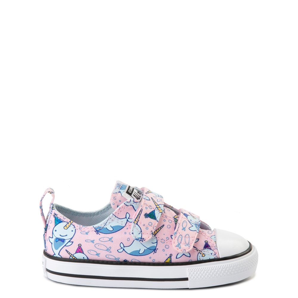 Converse Chuck Taylor All Star 2V Lo Narwhal Sneaker - Baby / Toddler - Cherry Blossom