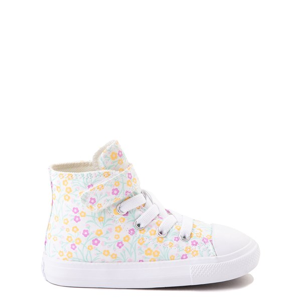 Default view of Converse Chuck Taylor All Star 1V Hi Floral Sneaker - Baby / Toddler - White