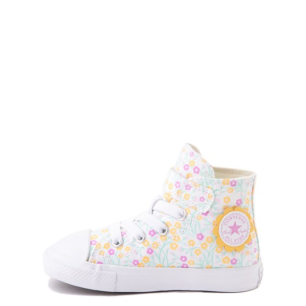 Alternate view of Converse Chuck Taylor All Star 1V Hi Floral Sneaker - Baby / Toddler - White