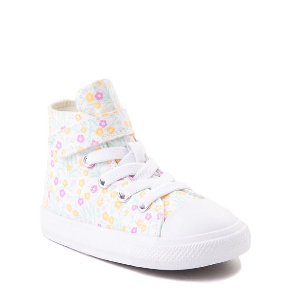 alternate view Converse Chuck Taylor All Star 1V Hi Floral Sneaker - Baby / Toddler - WhiteALT1B