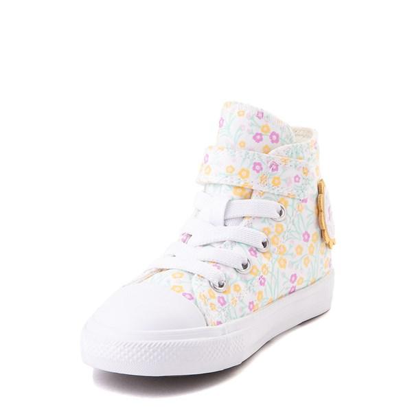 alternate view Converse Chuck Taylor All Star 1V Hi Floral Sneaker - Baby / Toddler - WhiteALT3