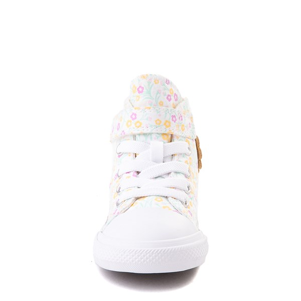alternate view Converse Chuck Taylor All Star 1V Hi Floral Sneaker - Baby / Toddler - WhiteALT4