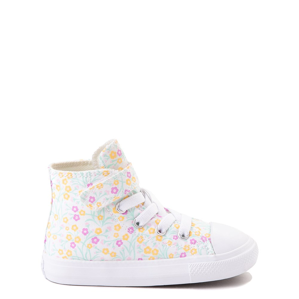 Converse Chuck Taylor All Star 1V Hi Floral Sneaker - Baby / Toddler - White