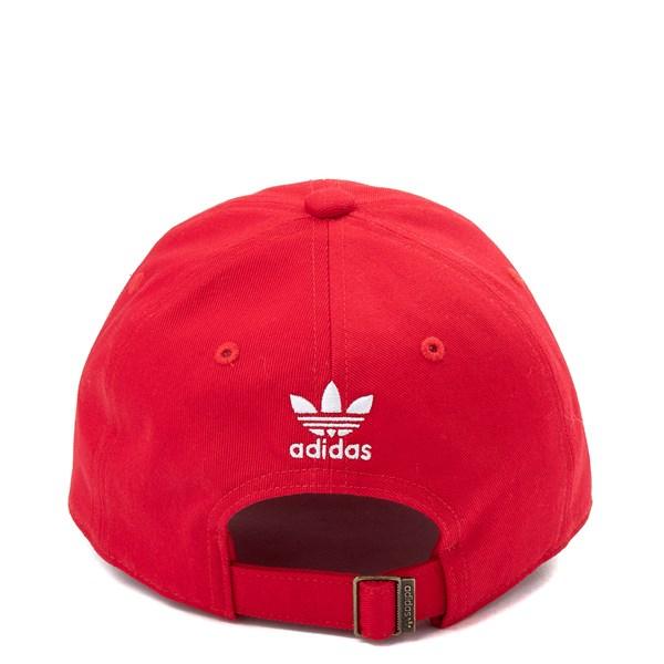 alternate view adidas Originals Trefoil Relaxed Dad Hat - Little Kid - RedALT1