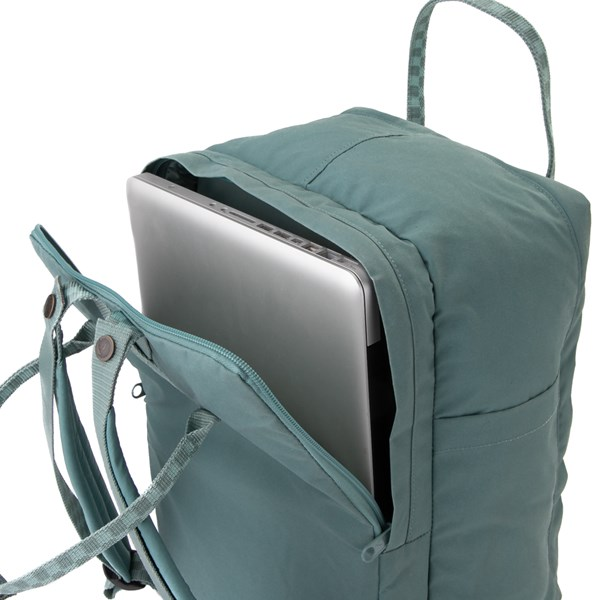 "alternate view Fjallraven Kanken 15"" Laptop Backpack - Frost GreenALT3"
