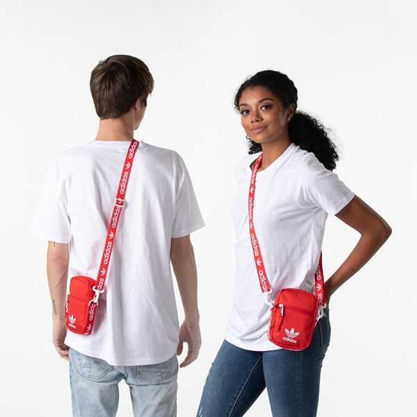 alternate view adidas Originals Crossbody Festival Bag - RedALT1BADULT