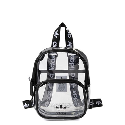 Main view of adidas Originals Mini Backpack - Clear / Black