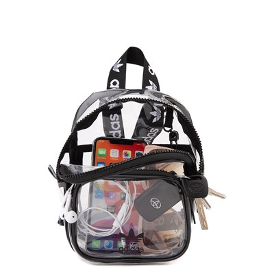 Alternate view of adidas Originals Mini Backpack - Clear / Black