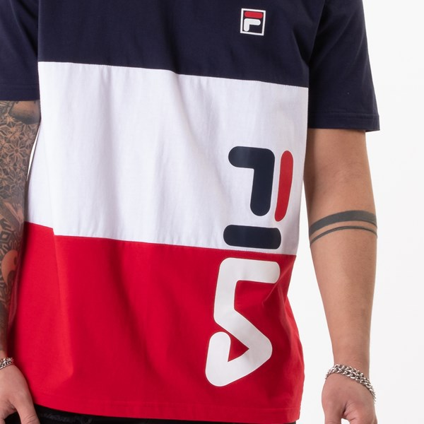 alternate view Mens Fila Alfredo Tee - White / Navy / RedALT1B