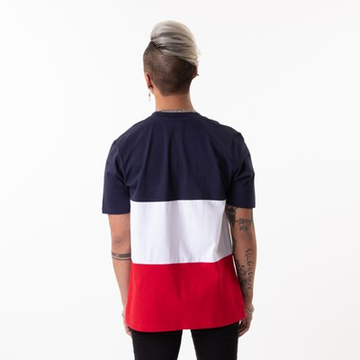 Alternate view of Mens Fila Alfredo Tee - White / Navy / Red