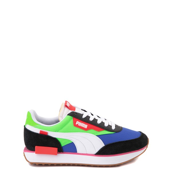 Puma Future Rider Play On Athletic Shoe - Big Kid - Black / Blue / Green / Red