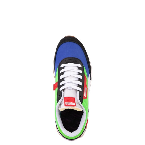 alternate view Puma Future Rider Play On Athletic Shoe - Big Kid - Black / Blue / Green / RedALT4B