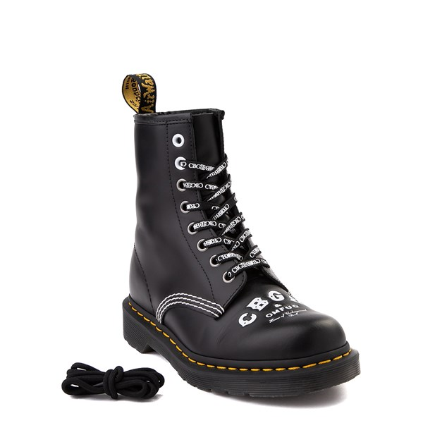 alternate view Dr. Martens 1460 8-Eye CBGB & OMFUG Boot - BlackALT1