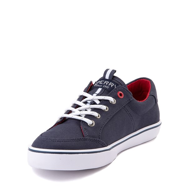 alternate view Sperry Top-Sider Trysail Casual Shoe - Little Kid / Big Kid - Navy / RedALT2
