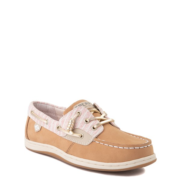alternate view Sperry Top-Sider Songfish Boat Shoe - Little Kid / Big Kid - Linen OatALT1