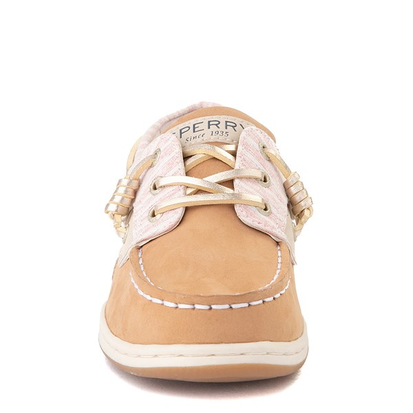 alternate view Sperry Top-Sider Songfish Boat Shoe - Little Kid / Big Kid - Linen OatALT4