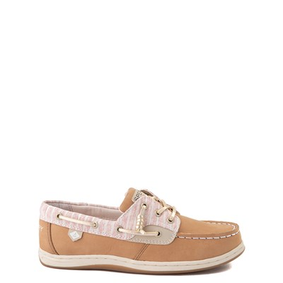 Main view of Sperry Top-Sider Songfish Boat Shoe - Little Kid / Big Kid - Linen Oat