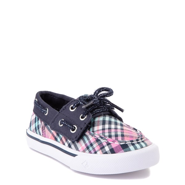 alternate view Sperry Top-Sider Bahama Boat Shoe - Toddler / Little Kid - Navy / PinkALT1