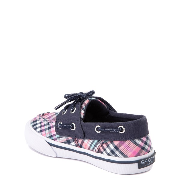 alternate view Sperry Top-Sider Bahama Boat Shoe - Toddler / Little Kid - Navy / PinkALT2